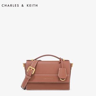 CHARLES&KEITH 秋千包 CK2-50780732欧美翻盖吊牌装饰女士单肩包