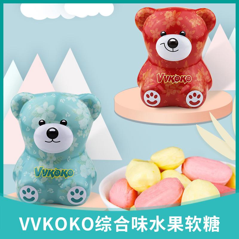 Vvkoko imported fruit juice fudge mango flavor blackcurrant flavor net red bear candy childrens Day gift