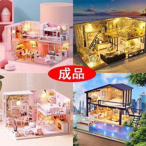 小别墅模型成品大型建筑diy手工作品520创意生日礼物纯