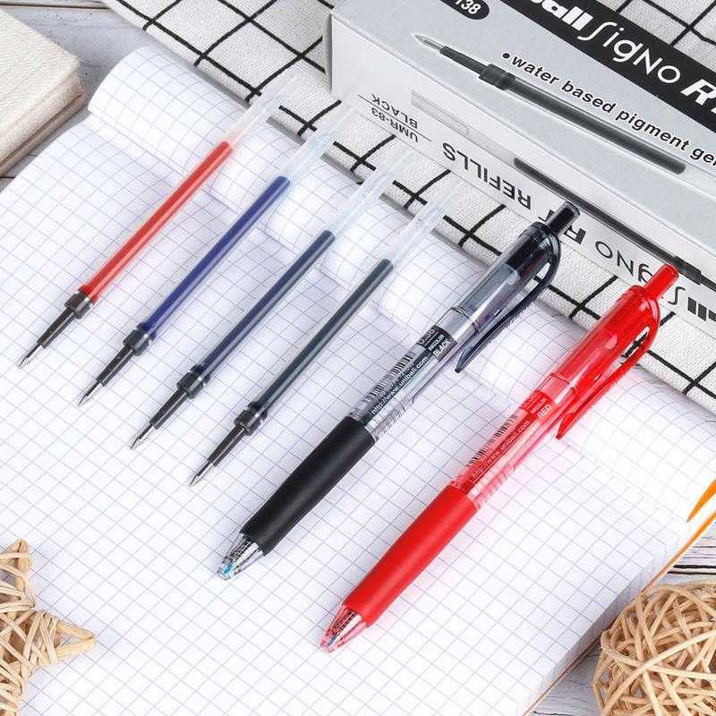 日本 三菱UMN-138中性笔/水笔/笔芯/UMR-83替芯/0.38mm签字笔芯