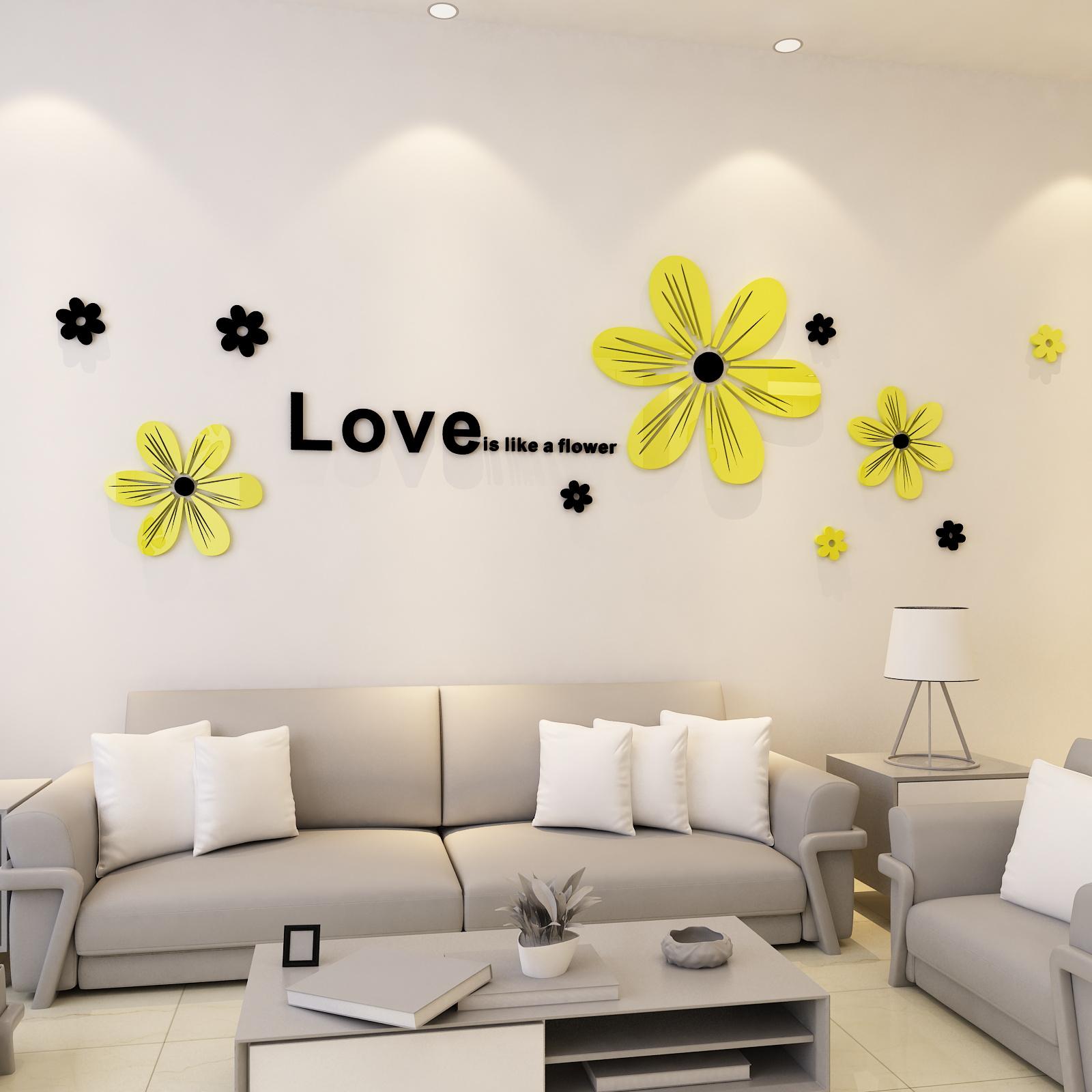 亚克力3d立体墙贴自粘卧室客厅餐厅沙发电视背景墙现代简约装饰画