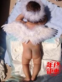 儿童天使翅膀 羽毛 影楼拍摄道具百天宝宝拍照小网红周岁图片