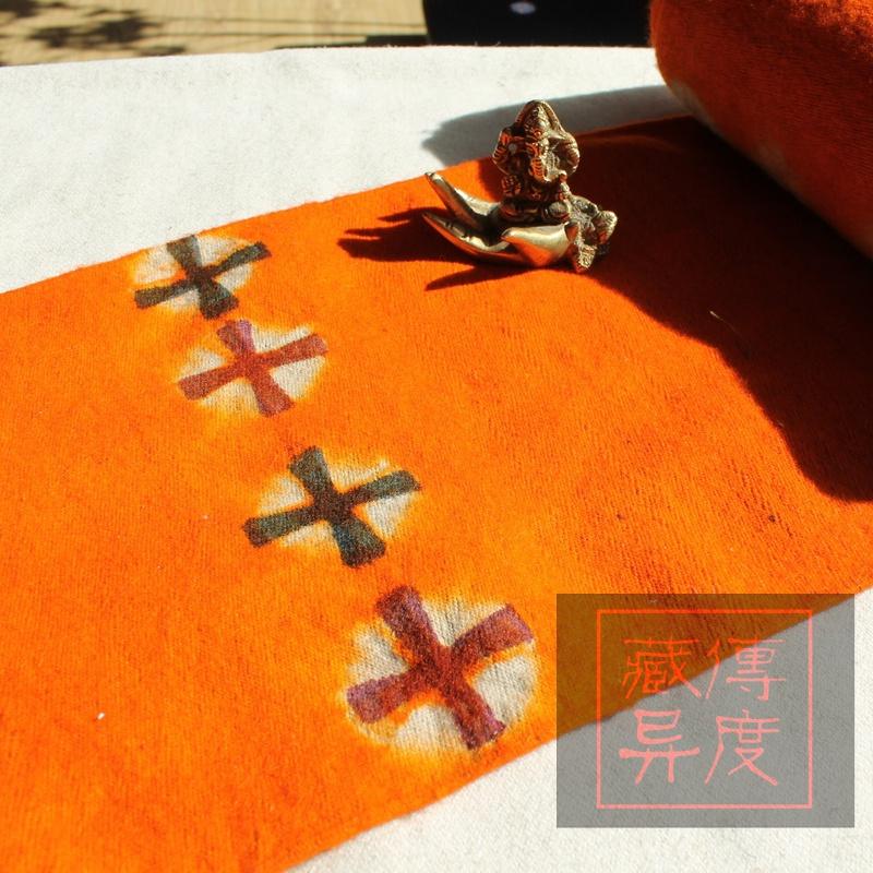藏族特色 纯手工制作 纯羊毛黄色氆氇、毛毡、毛呢 现货/其他