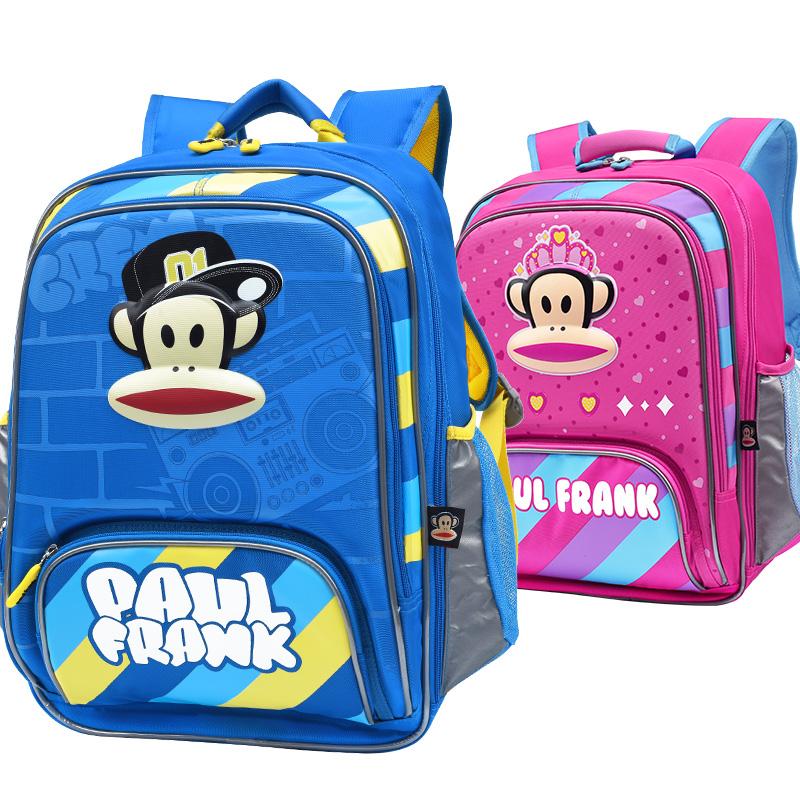 新款大嘴猴书包小学生1-3-5年级男女孩子儿童轻便减负时尚潮流双