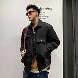徐太浪短款工装男士羽绒服超火cec纽扣设计纯色保暖青年厚款外套