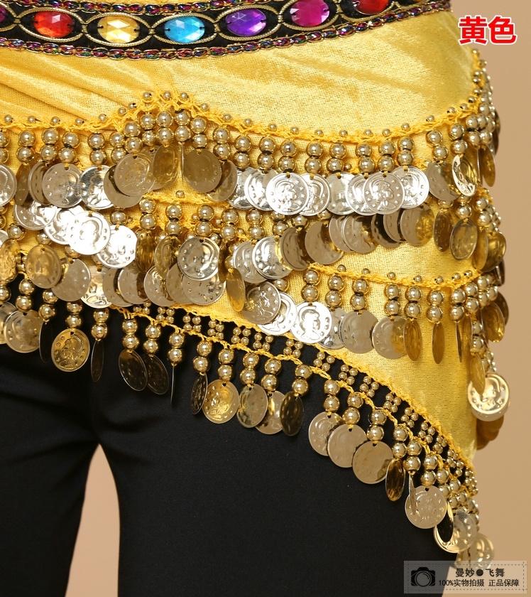 Special dance performance Indian Dance Dress Belt gemstone waist chain Nile heavy Yoga Belly Dance waist chain