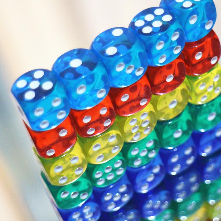 Цвет кристалл игра в кости прозрачный акрил бар бозон KTV сито детский шаг 12 14 16 размер встряска цвет