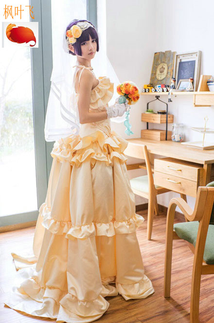 How can my sister be so cute! Girl cat Zi Wugeng Glass Wedding Dress Cosplay dress