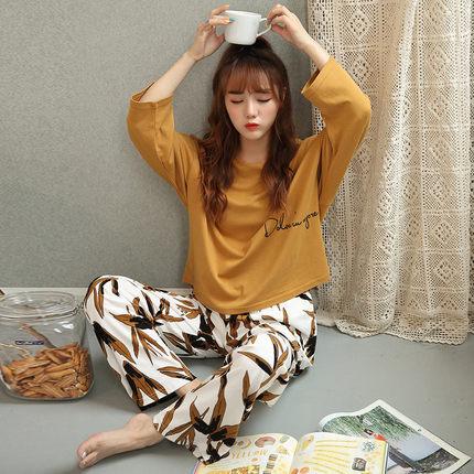 俞兆林睡衣女秋長袖新款冬天兩件套裝春季韓版清新學生寬松家居服
