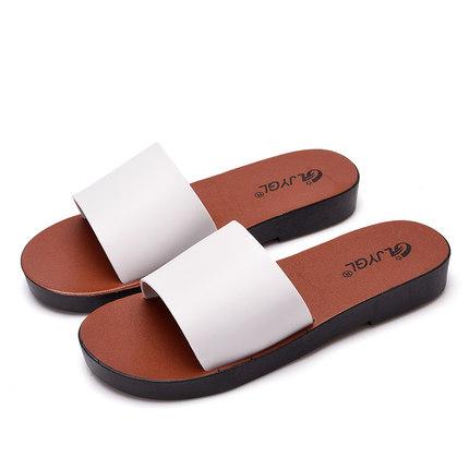平底女室外穿可湿水韩版夏一字拖鞋
