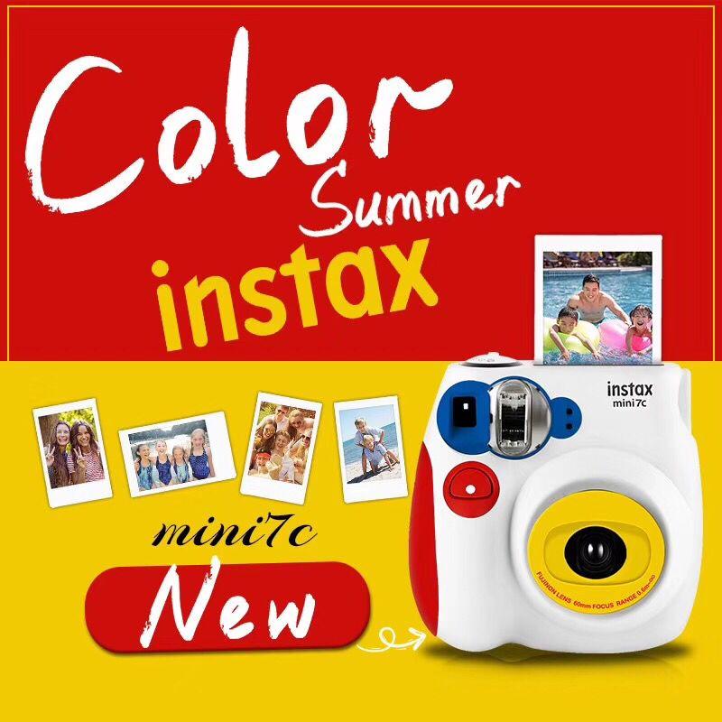 Fujifilm富士instax mini7c相机套餐含拍立得相纸 mini7s309.00元包邮