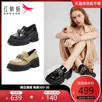 春新款尖头细高跟单鞋时尚姓感百搭通勤及踝靴短靴2020千百度女鞋