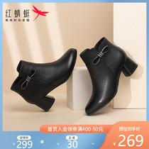 秋冬新款马丁靴韩版圆头显瘦系带骑士靴2020长筒靴女胡月明定制