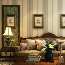 卧室玄关床头餐厅背景墙纸橙红色田园大花美式乡村复古纯纸壁纸