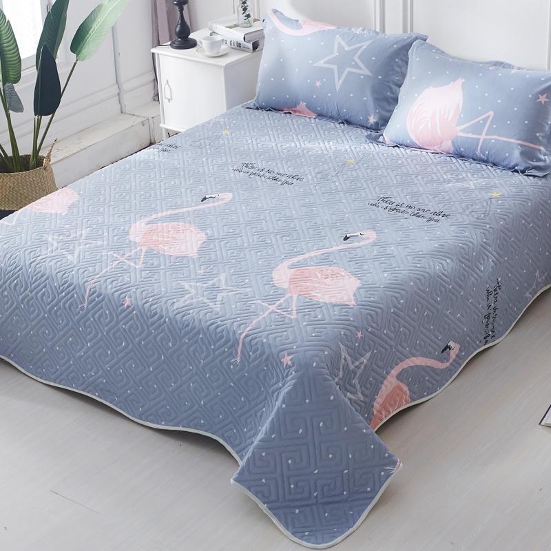床盖单件/三件套纯棉全棉绗缝夹棉床单衍缝被床上榻榻米铺盖韩国