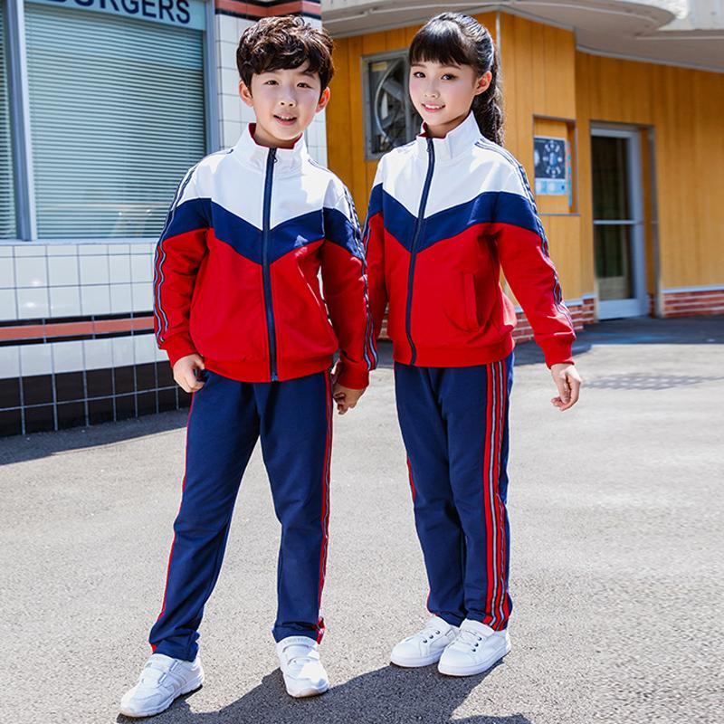 幼儿园园服春秋套装款儿童英伦风校服中小学生班服纯棉运动服定制