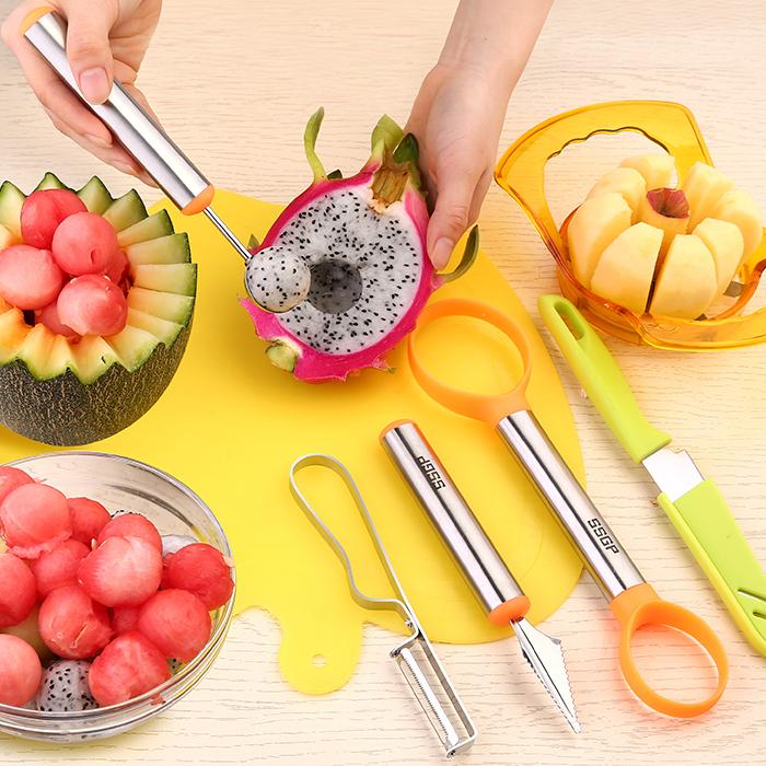 水果拼�P工具切水果神器套�b水果刀西瓜挖球勺器瓜果雕花 刀 家用