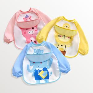 宝宝围兜防水防脏春夏季吃饭罩衣
