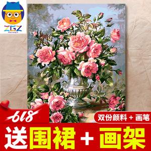 领5元券购买赵公子diy数字油画客厅成人油彩画