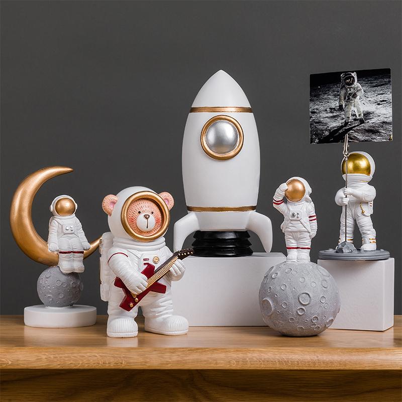 (用42.7元券)创意宇航员太空人模型摆件家居客厅房间酒柜装饰品北欧小摆设礼物