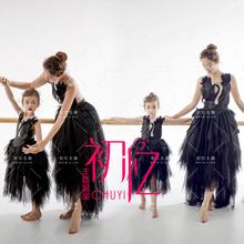 2018展会新款影楼亲子主题服装母女拍照走秀表演天鹅芭蕾舞裙礼服