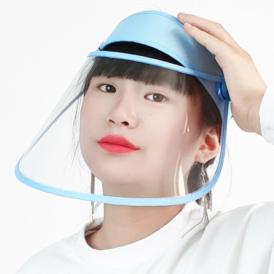 厨房防油烟面罩透明炒菜防油溅脸部防护神器做饭烧菜头套脸罩面具