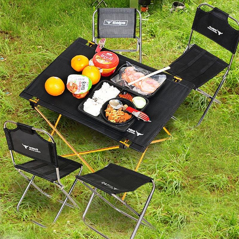 Корея Selpa на открытом воздухе барбекю пикник столы и стулья портативный песчаный пляж складной стол сын 7075 сверхлегкий алюминиевых сплавов стол