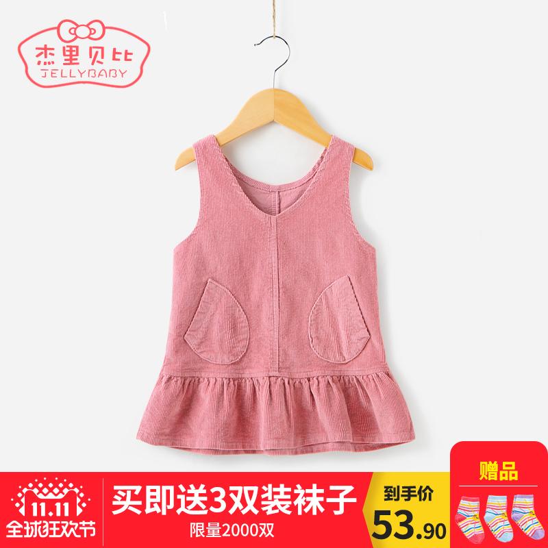 Девочки жилет юбка 1-3 детей в возрасте ремень юбка осень и зима дети платье ребенок зима юбка 5 ребенок осень женщина