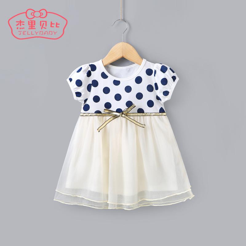 女童 連衣裙1~3嬰兒網紗裙春兒童裙子公主裙2~5一歲女寶寶夏裝