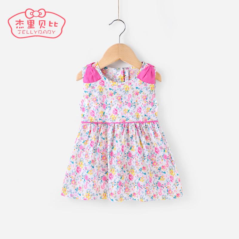 女寶寶裙子夏0~1嬰兒連衣裙 公主裙兒童夏裝2~3女童無袖背心裙
