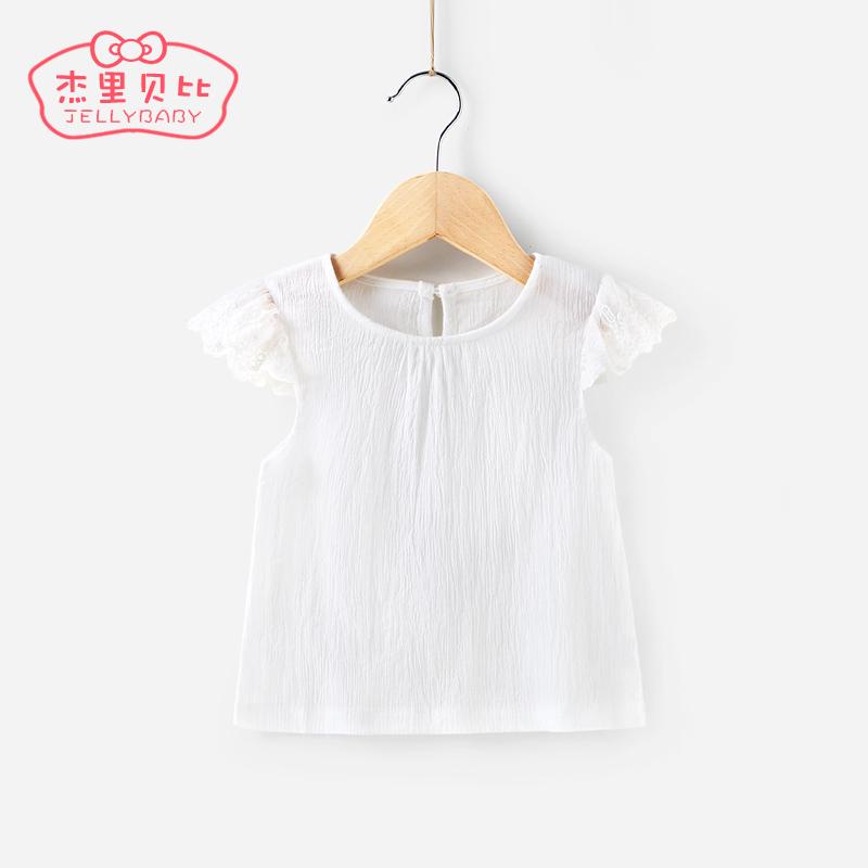 兩歲女寶寶夏裝 2017小童T恤夏兒童上衣 3~4~5女童夏天衣服