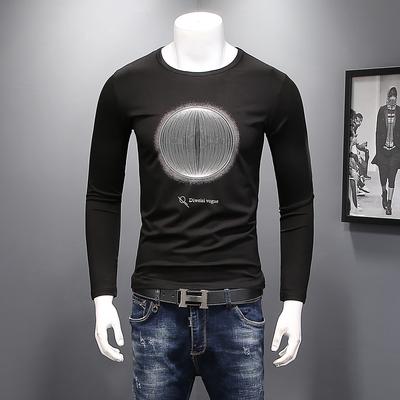 丝光棉货号F122 电商D2082018新款欧洲站男士长袖T恤P60