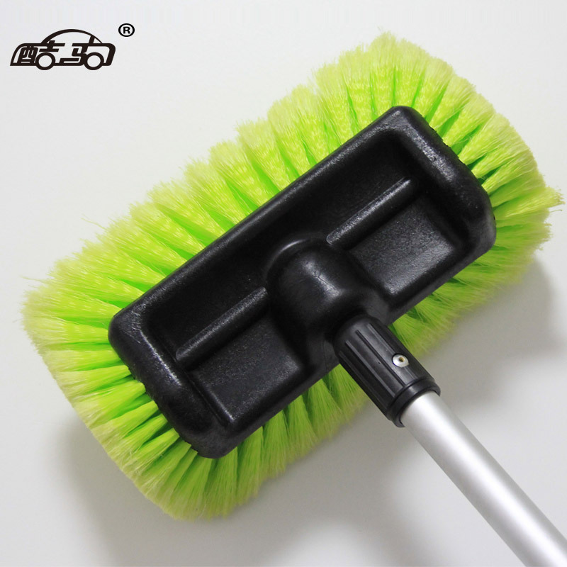 Kuju bus mop telescopic long rod handle five side car washing brush spray water brush car beauty and cleaning products