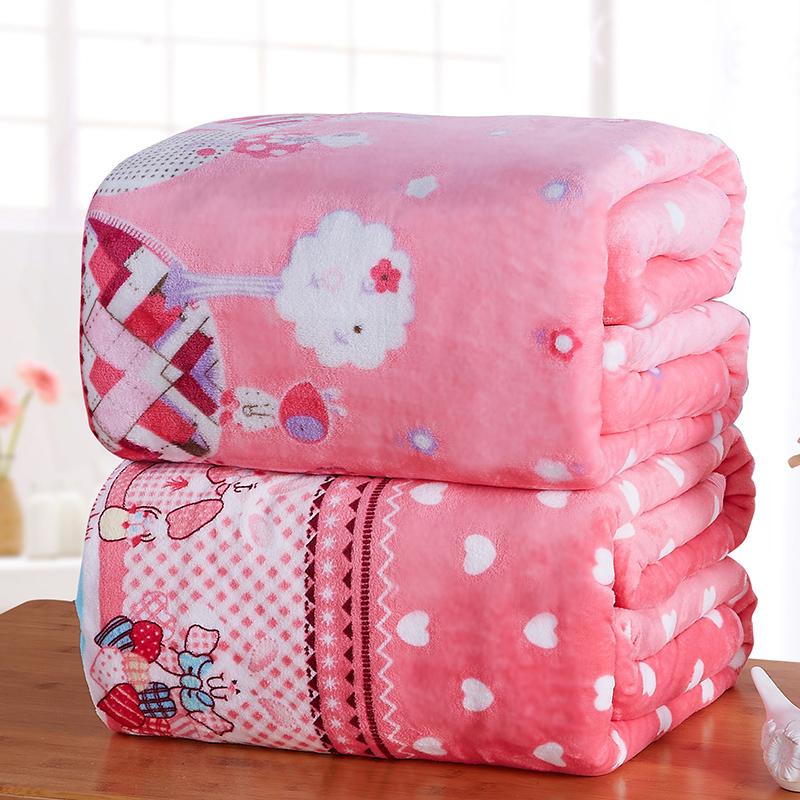 Зима коралл одеяла утолщённый , пух из фалана шерстяные одеяла лист один комната с несколькими кроватями вздремнуть один двойной студент короткий мех
