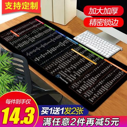 超大鼠标垫电竞游戏加厚可爱女ins风办公快捷键护腕大号定制桌面键盘写字台电脑垫学生书桌家用垫子防脏