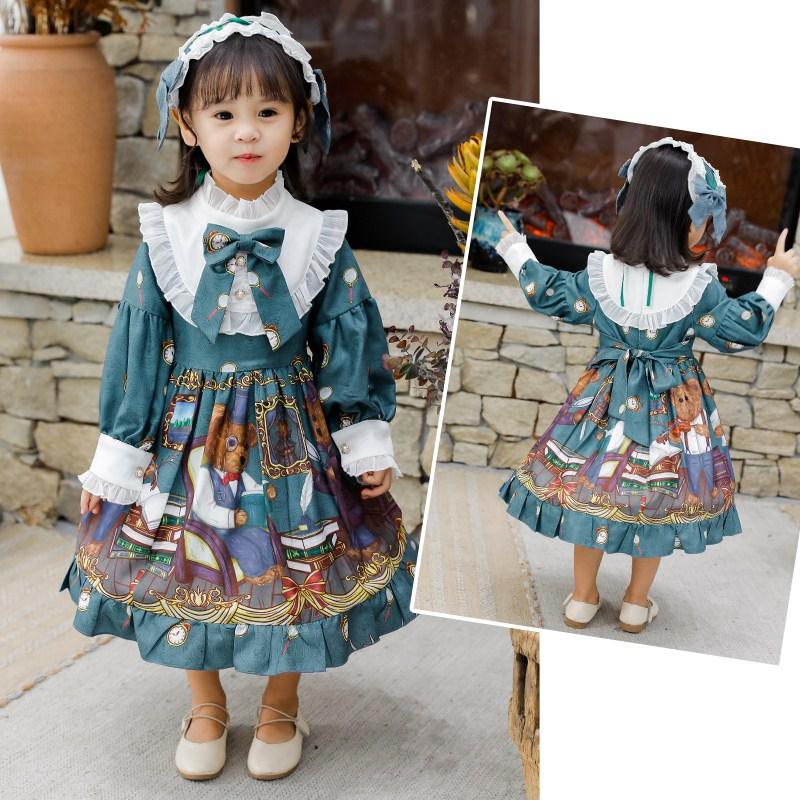 Girls spring and autumn Lolita princess dress childrens Lolita Birthday Dress day series Lolita Dress