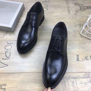 娜 百丽真皮男鞋 商务正装低帮婚鞋秋季软底舒适办公韩版英伦皮鞋