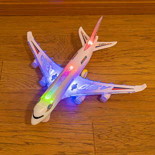 飞机儿童玩具电动万向模型航模男孩拼装 客机空中巴士宝宝生日礼物