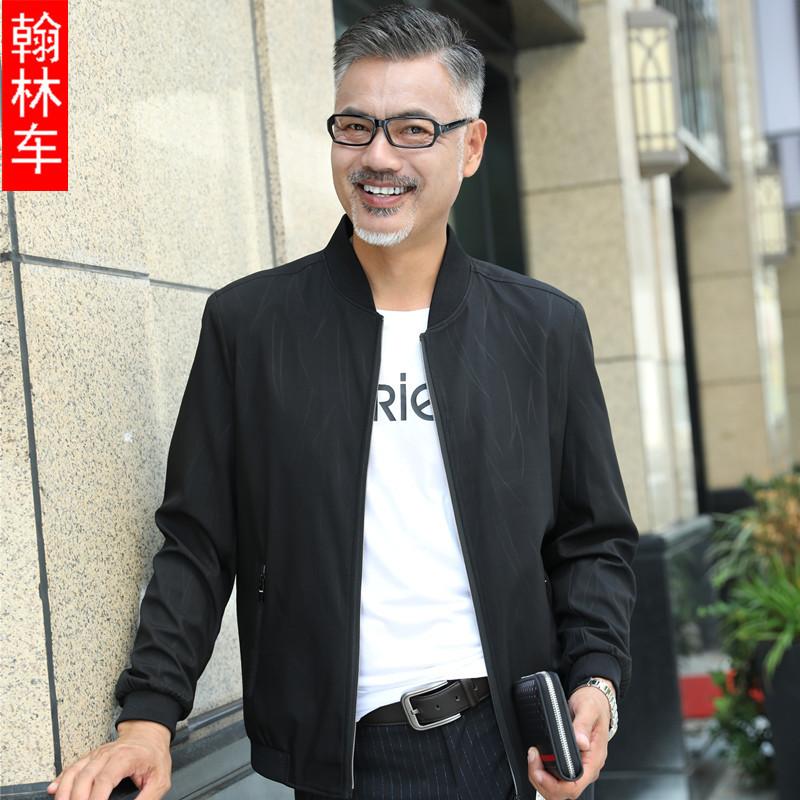春秋中年男性の薄手のジャケット、新しいお父さんはコートの中で高齢男性の男装とダウンジャケットの男性の上着を詰めます。