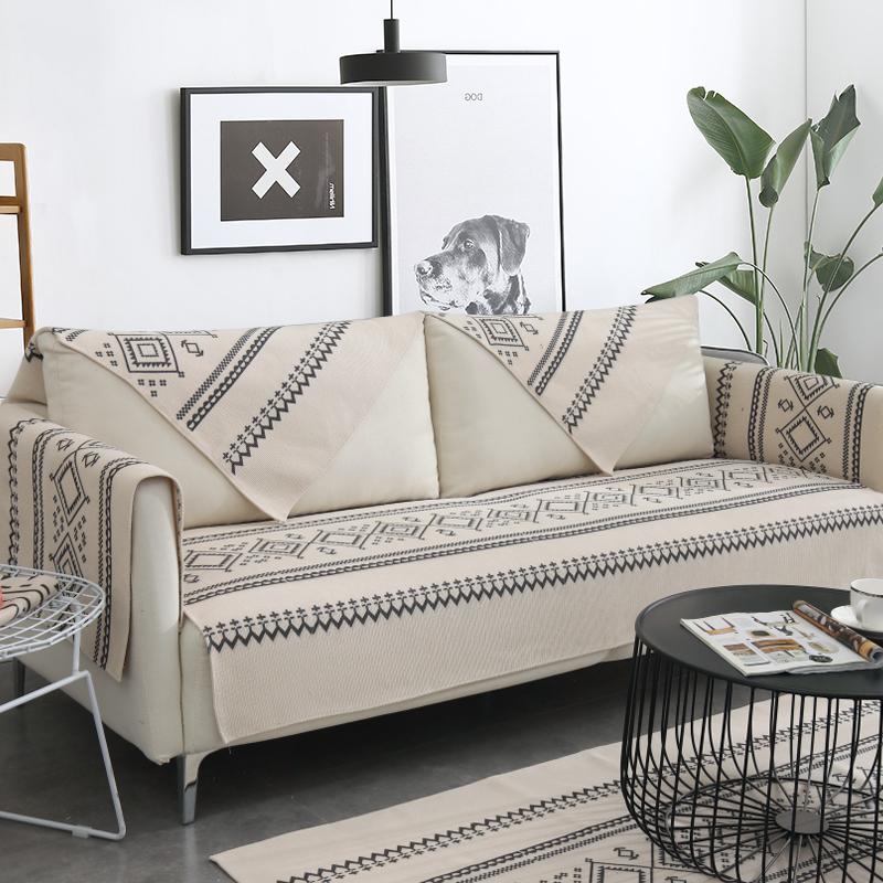 沙发垫四季通用布艺夏天棉麻简约现代防滑垫子沙发套罩巾坐垫靠背(用44.5元券)