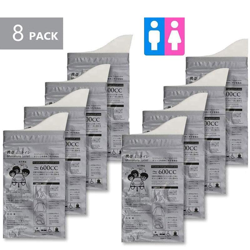 8Pcs rine Bags Camping Pee Bags rinals Vomit Bags rinal Tet