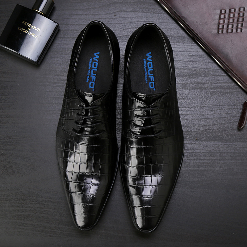 New stone British leather shoes leather men s all kinds of pointy low top shoes wear-resistant handsome hair stylist shoes men