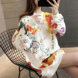 秋装2020年新款韩版女装宽松女士卫衣服外套春秋薄款ins潮中长款