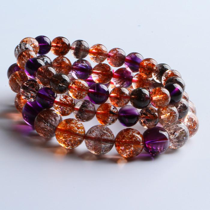 晶至尊珠宝直播间链接 紫发超级七钛晶石榴绿发红兔毛发晶精品