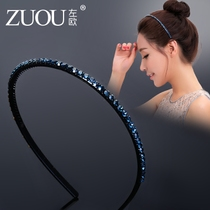 Hair Hoop Female South Korea cute fresh simple hair Grotto Diamond Fine card female Headwear Korean version hairpin hair hoop