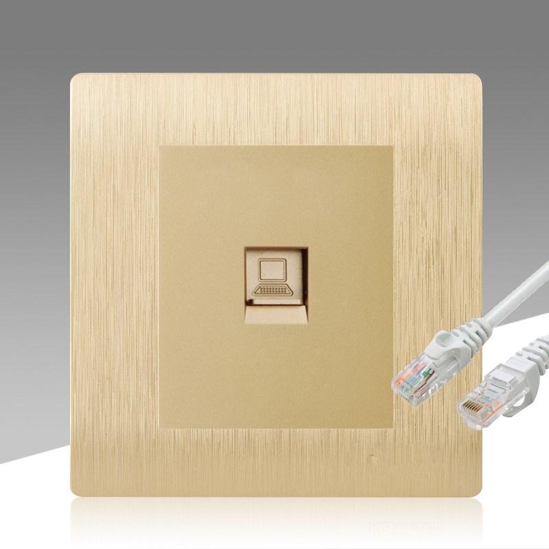 工具插头电脑面板网口控制网络面板一位千兆网线插座专用墙上宽带