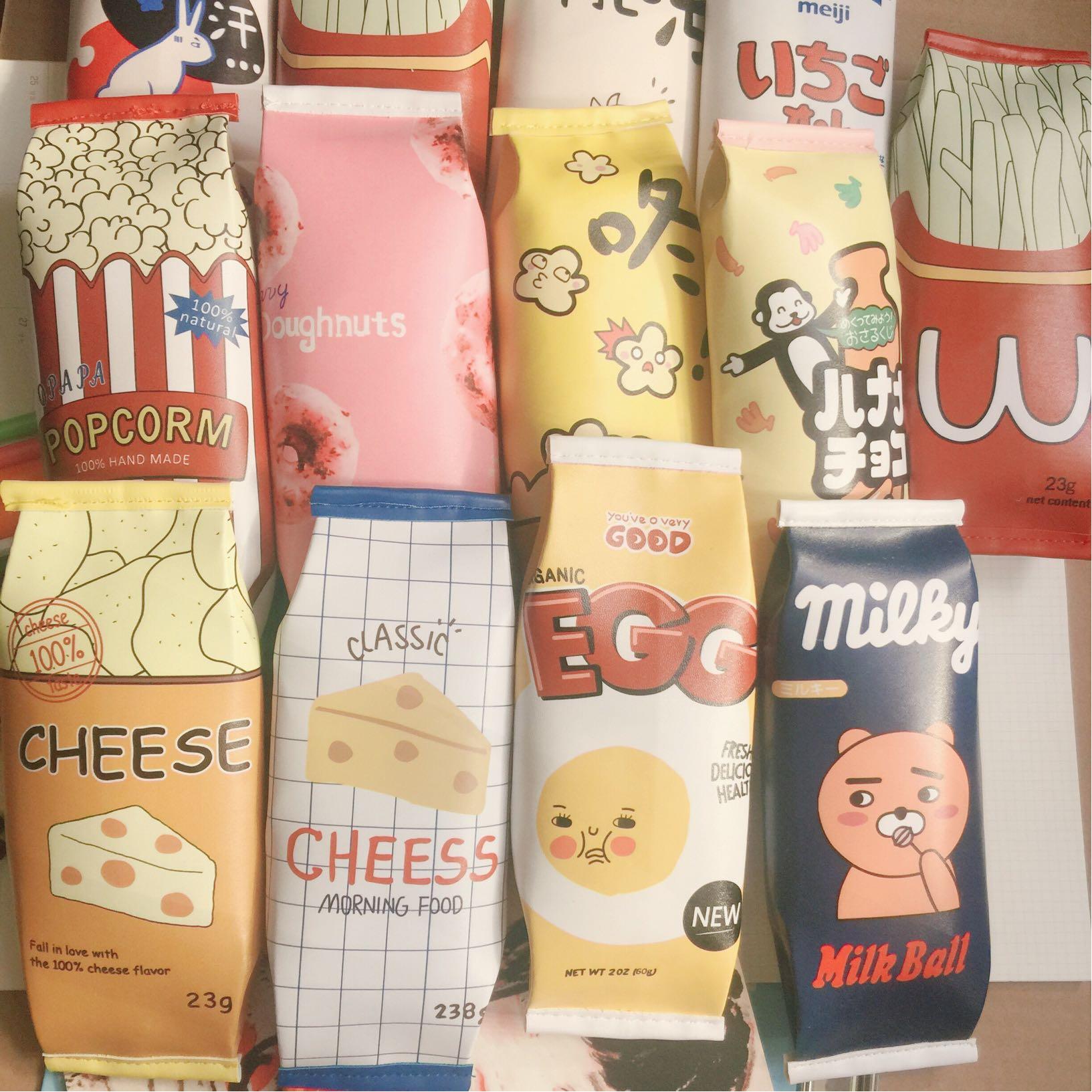 默小七 韩版创意零食笔袋 韩国简约女初中学生小清新可爱新文具盒