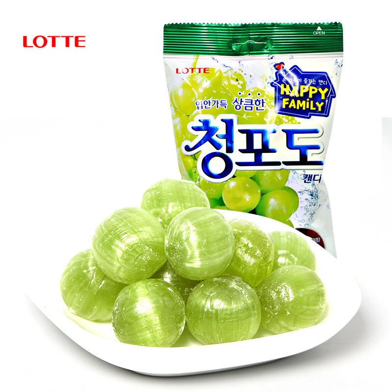 Korean imported food Le Tianqing grape flavor hard candy 153g children share snacks, wedding candy and leisure snacks