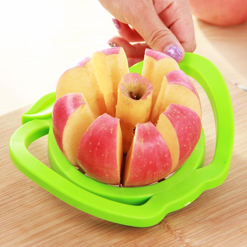 加厚大号切苹果器 塑料苹果切片器 水果分割去核器厨房餐饮用具