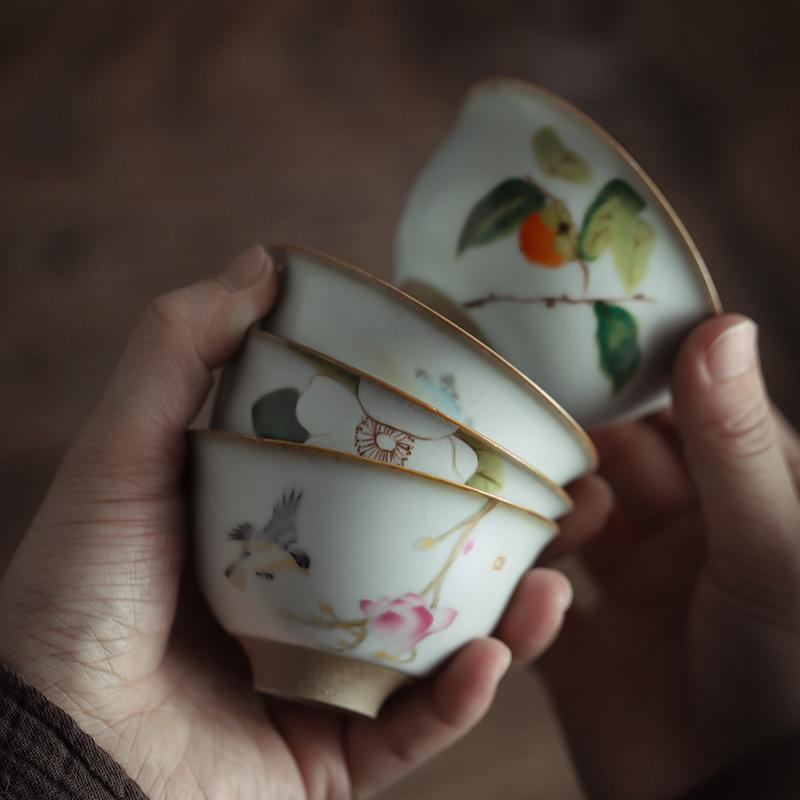 热销41件需要用券单个复古手绘单只功夫茶具个人杯